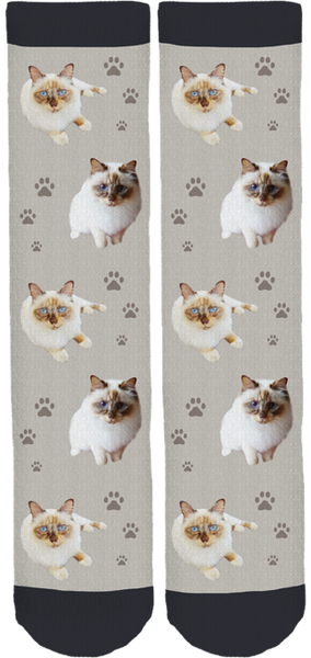 Mau Mau the Cat Crew Socks