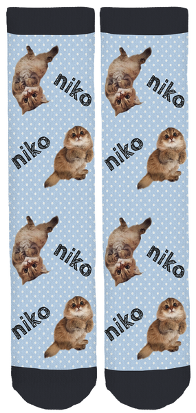 Niko the Cat Crew Socks