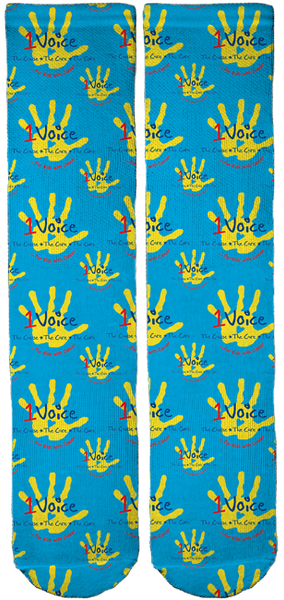 Limited Edition 1Voice Foundation Bamboo Crew Socks!