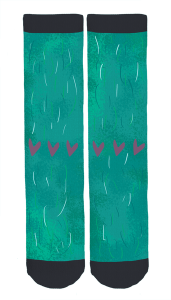 Limited Edition Morgane Carlier Illustration Crew Socks!
