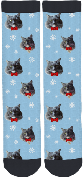 Moe Grey the Cat Crew Socks