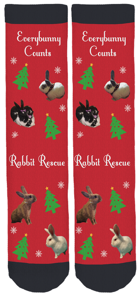 Everybunny Counts Holiday Crew Socks