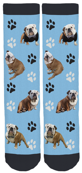 Mr. Gerald The Bulldog Crew Socks