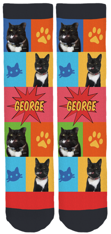 My Cat George Crew Socks