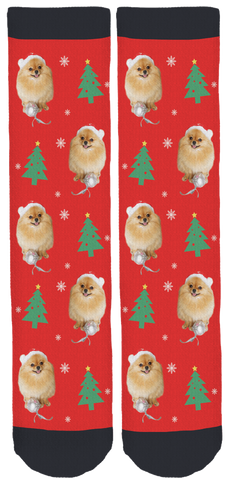 Pomeranians Holiday Crew Socks