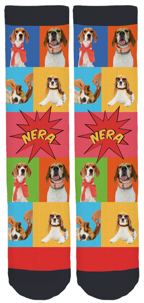 Nera the Beagle Crew Socks