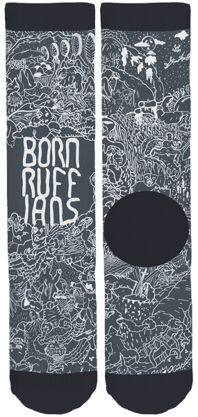 Born Ruffians Crew Socks Are Back