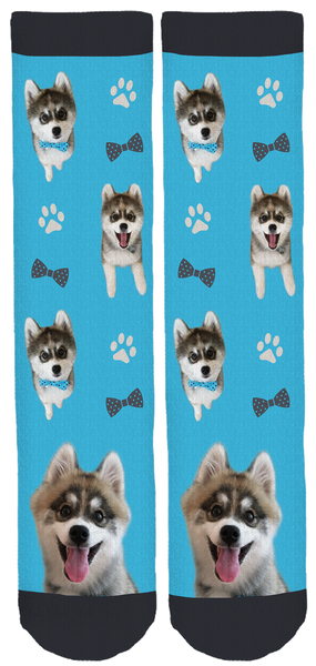 Norman The Pomsky Crew Socks