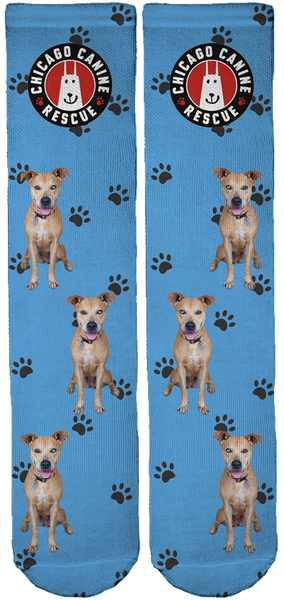 Chicago Canine Rescue Foundation Crew Socks