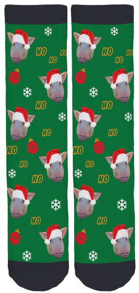 Pickle the Pig Holiday Crew Socks