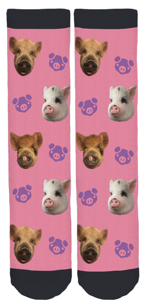 Piggyloverz123 and Friends Crew Socks