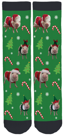 @prissy_pig Holiday Crew Socks