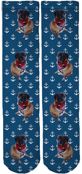 Limited Edition 50 Shades of Pug Crew Socks