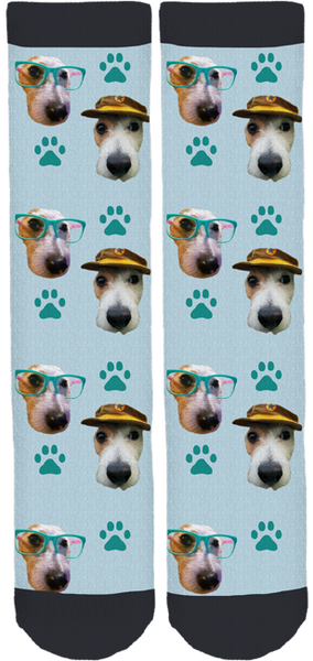 Frankie The Jack Russell Rescue Dog Socks