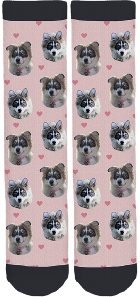 Ruby Pomsky Crew Socks