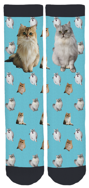 New Smoothie the Cat Crew Socks