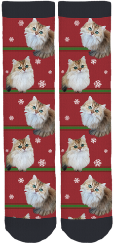 Smoothie The Cat Holiday Socks