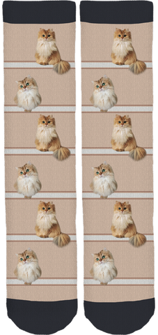Smoothie The Cat Crew Socks