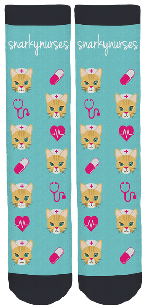 Snarky Nurses Crew Socks
