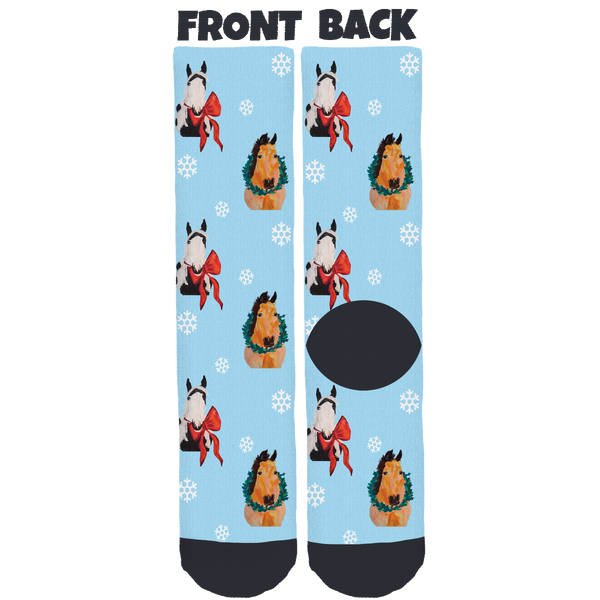 Casey's Safe Haven Holiday Crew Socks