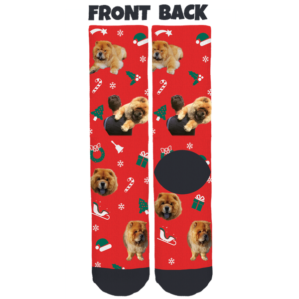 Spencer The Chow Holiday Crew Socks