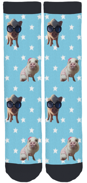Rainbow the MiniPig Crew Socks