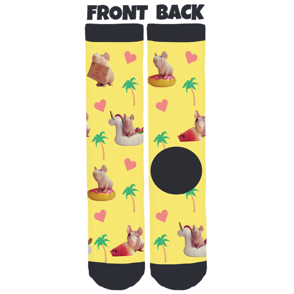 Ludwik the Guinea Pig Summer Crew Socks
