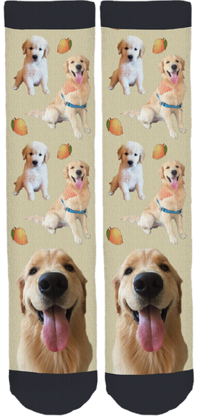 Mango the Golden Retriever Crew Socks