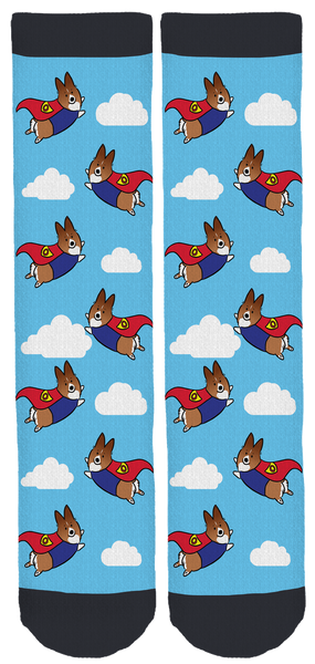 Super Orso the Corgi Crew Socks