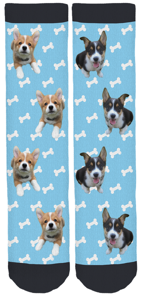 Tale of Two Corgis Crew Socks