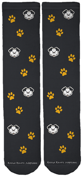 Limited Edition Rescue Rovers Dog Adoptions Crew Socks