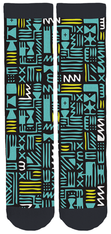 Limited Edition a Brilliant Dummy Tribal Bamboo Crew Socks!