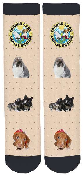 Tender Care Animal Rescue Bamboo Crew Socks