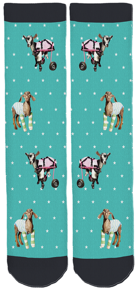 Limited Edition Goats & Friends Bamboo Crew Socks!