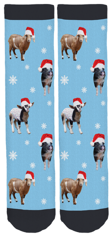Goats of Anarchy Holiday Crew Socks