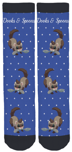 Limited Edition Dooks & Spoons Crew Socks