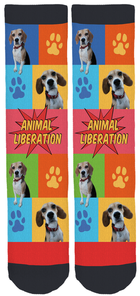 Limited Edition Beagle Freedom Crew Socks