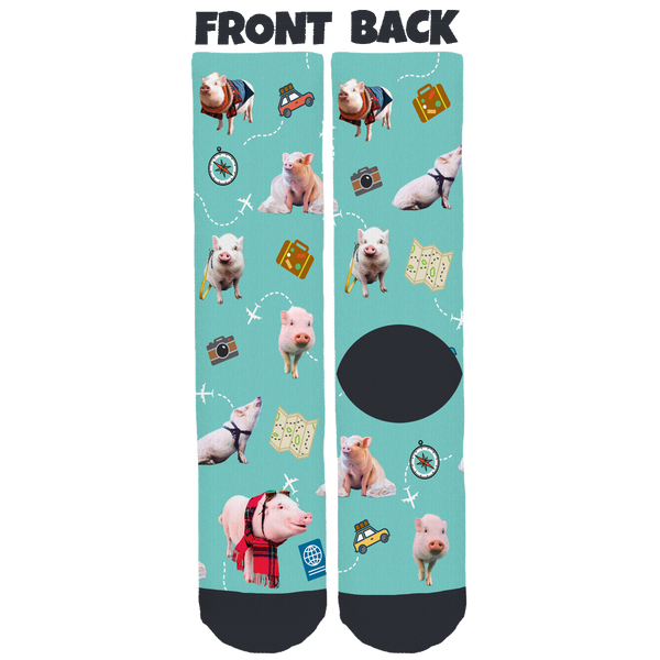 Christopher the Pig Crew Socks