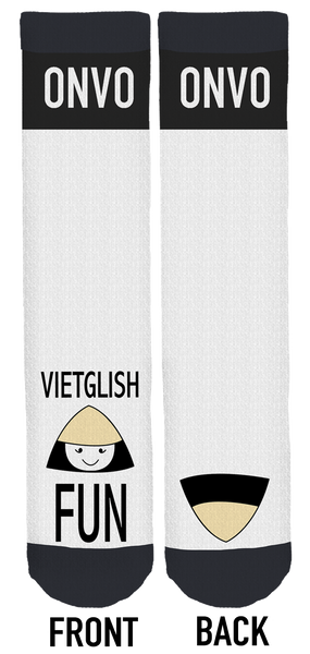 Vietglish Fun Crew Socks