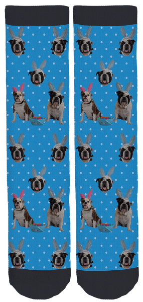 Long Island Bulldog Rescue Easter Socks