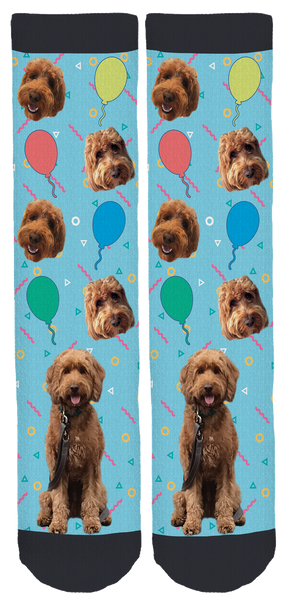 Whiskey the Goldendoodle  Crew Socks