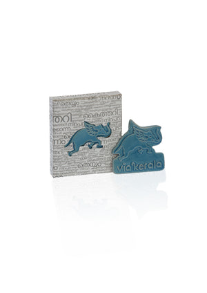 Flying Elephant Ceramic Magent