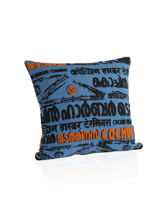 Cochin Harbour Terminus - Hand Printed Cushion Cover