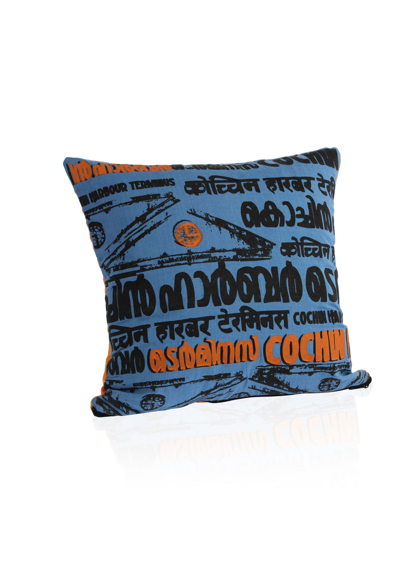 Cochin Harbour Cushion Cover