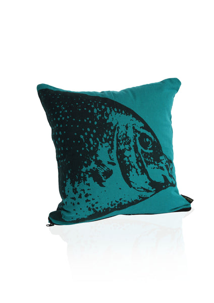 Fish Cushion Cover - Green