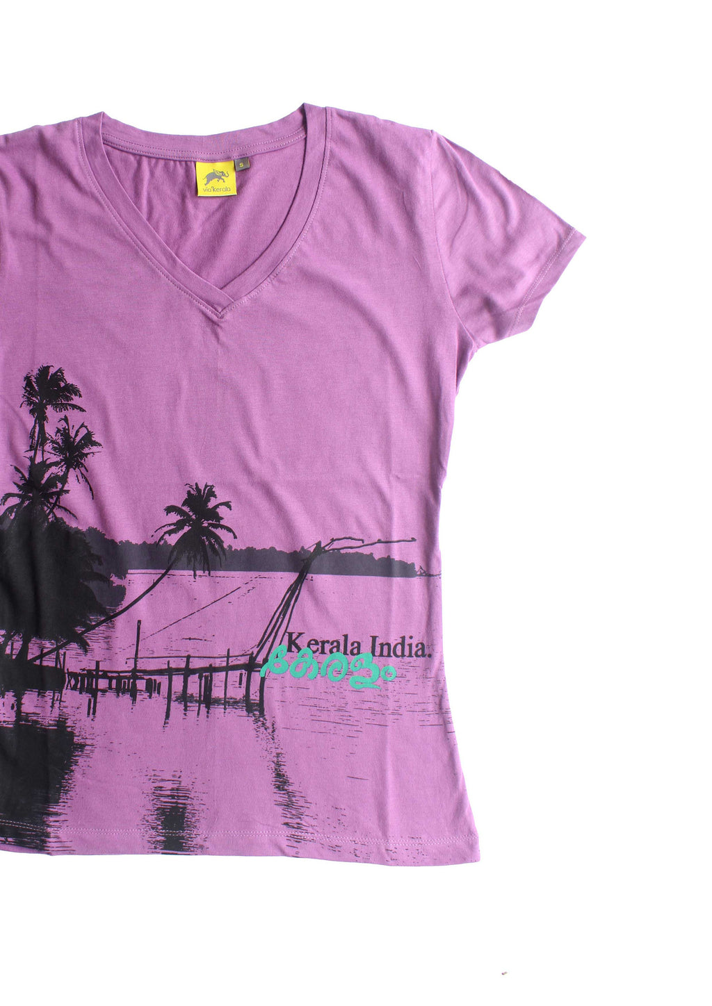 Keralam T-shirt (V Neck - Ladies)