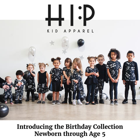 The Birthday Collection - on trend kids birthday party outfits ages 1, 2, 3, 4 and 5