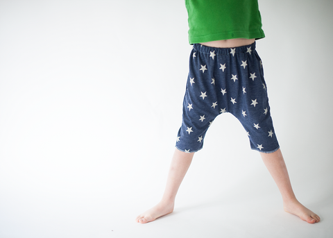 Star Spangled Raw Edge Harems-Bottoms-Hip Kid Apparel-kids graphic t-shirts-kids graphic tees-modern kids clothes-trendy shirts for kids-unisex kids shirts-for-boys-girls