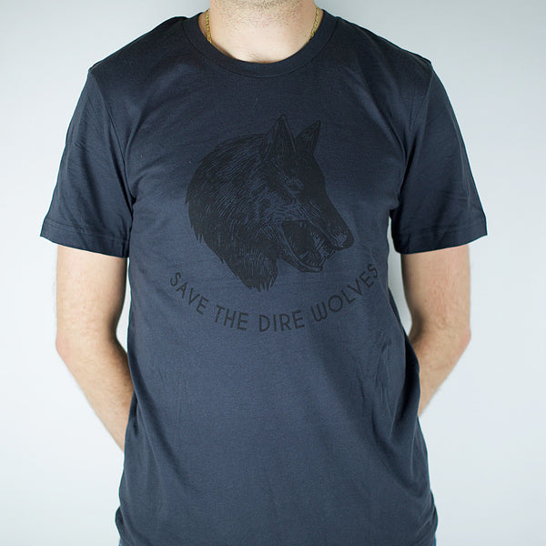 Save the Dire Wolves - Adult Unisex Shirts-Tee Shirts-Hip Kid Apparel-kids graphic t-shirts-kids graphic tees-modern kids clothes-trendy shirts for kids-unisex kids shirts-for-boys-girls