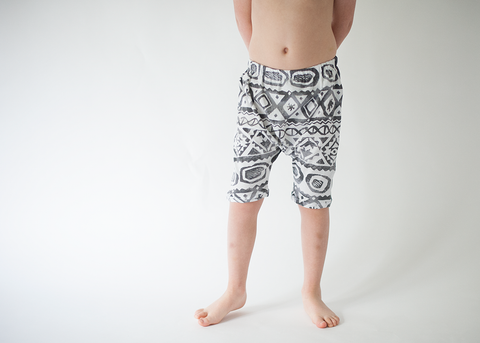 Tribal & Grey Dual Color Harems-Bottoms-Hip Kid Apparel-kids graphic t-shirts-kids graphic tees-modern kids clothes-trendy shirts for kids-unisex kids shirts-for-boys-girls